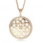 Ocelový náhrdelník Preciosa Rosette II Crystal 7239P00 - 75cm