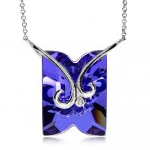Stříbrný náhrdelník Preciosa Fine Line Heliotrope 6006 64 - 38cm