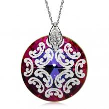 Stříbrný náhrdelník Preciosa Crystal Rose I Vitrail Medium 6008 41L- 45cm