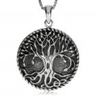 Stříbrný přívěsek - Symbol stromu života s pupeny na větvích