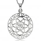 Stříbrný přívěsek - Šest prolínajících se kružnic
