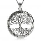 Stříbrný přívěsek - Strom života s nápisem v kruhu