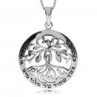 Stříbrný přívěsek - Strom života ve stylu Alfonse Muchy