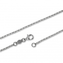 Stříbrný řetízek, kulaté články - 60 cm
