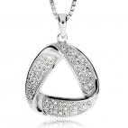 Stříbrný přívěsek se zirkonem (kubická zirkonie) - Trojúhelník s oblými rohy