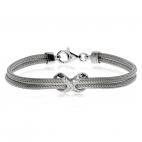 Stříbrný náramek - Infinity se zirkony (kubická zirkonie