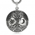 Stříbrný přívěsek - Strom života s keltskými smyčkami