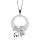 Stříbrný náhrdelník Preciosa Vogue White 5145 00L - 45cm