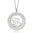 Stříbrný náhrdelník Preciosa Young White 5157 00L - 45cm