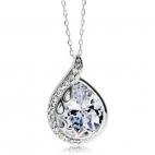 Stříbrný náhrdelník Preciosa Tender White 5104 00 - 45cm