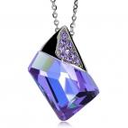 Ocelový náhrdelník Preciosa Magique Alexandrit 7041 18L - 45cm