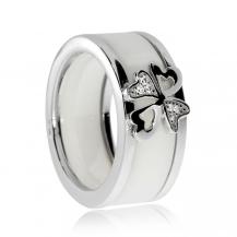 Stříbrný prsten Preciosa Vogue White 5147 00