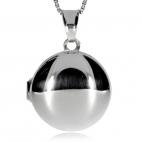 Stříbrný přívěsek - Kulatý otvírací medailon na foto