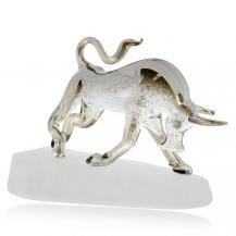 Křišťálová figurka Preciosa Zuřící býk 1182 40