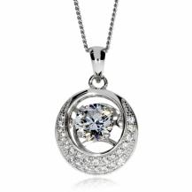 Stříbrný náhrdelník Preciosa Shimmer White 5184 00L - 45cm