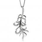 Stříbrný náhrdelník Preciosa Joy White 5188 00L - 45cm