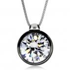 Stříbrný náhrdelník Preciosa Brilliant Star Chrome 5195 40L - 45cm