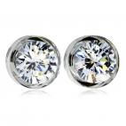 Stříbrné náušnice Preciosa Brilliant Star Crystal 5196 00