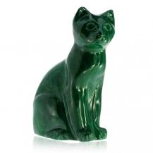 Malachitová kočka - figurka