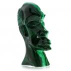 Hlava muže z přírodního malachitu