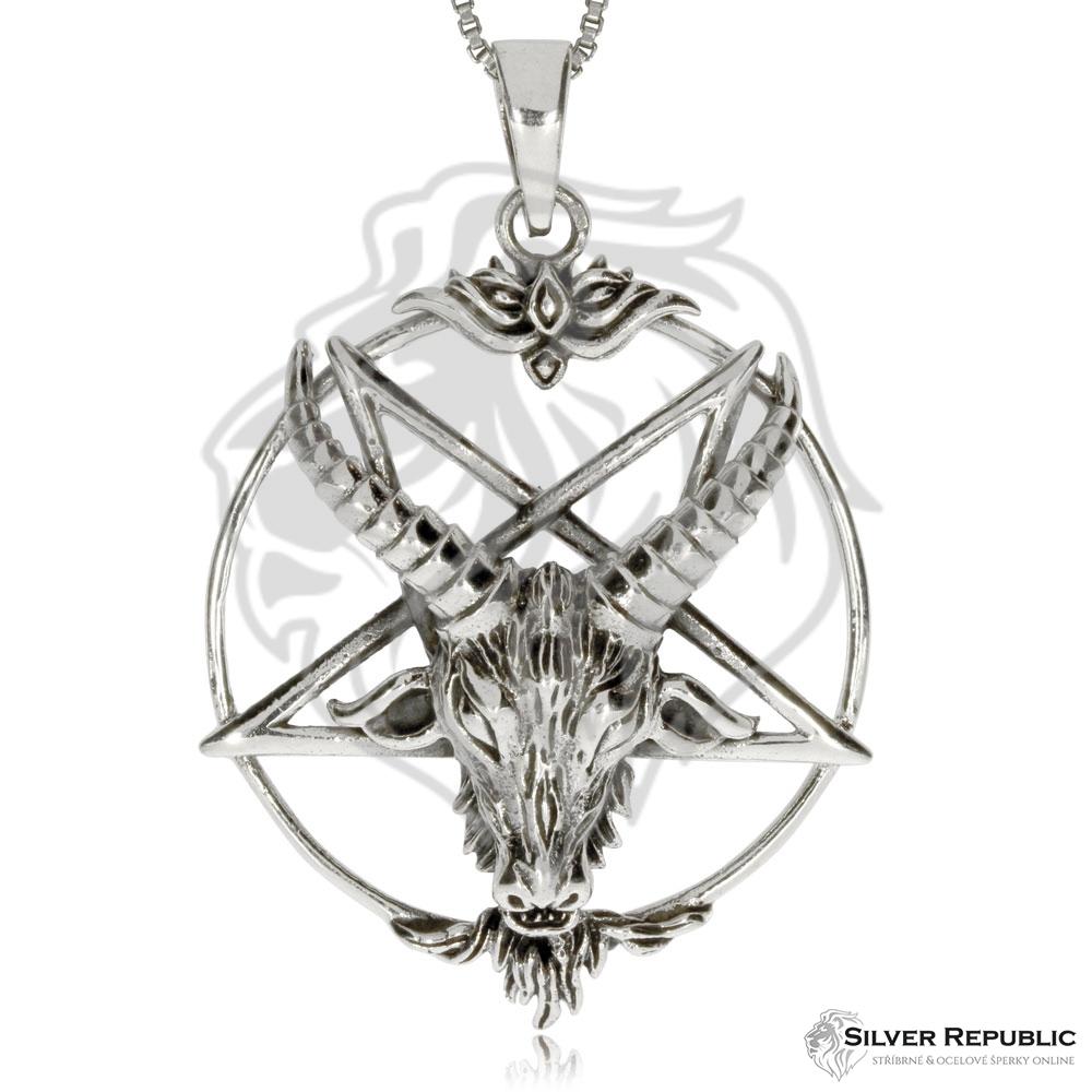 Stříbrný přívěsek - Bafometova pečeť 3c01b0e51ba