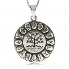 Stříbrný přívěsek - Runy v kruhu kolem stromu života