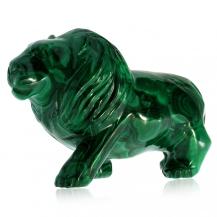 Figurka z přírodního malachitu - Lev