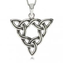 Stříbrný přívěsek - Keltský splétaný trojúhleník