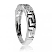 Stříbrný prsten s motivem meandru