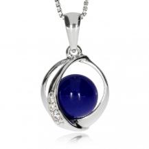 Stříbrný přívěsek s lapisem lazuli a zirkoniemi