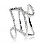 Stříbrný prsten Preciosa Fortune White 5198 00