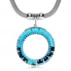 Ocelový náhrdelník Preciosa Sparkling Ring Vitrail Light 7272 43 - 45cm