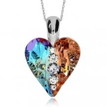 Stříbrný náhrdelník Preciosa Love Heart Combi 6873 70 - 75cm