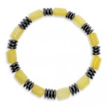 Pánský náramek ze žlutého onyxu a hematitu