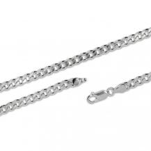 Stříbrný řetízek, Grumeta - 55 cm