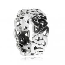 Stříbrný prsten - Kroužek tvořený triquetrami