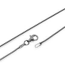 Stříbrný řetízek, hranaté články - 60 cm