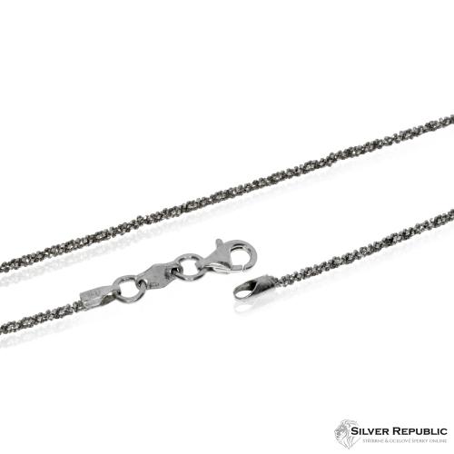 Stříbrný řetízek třpytivý, Daisy - 45 cm