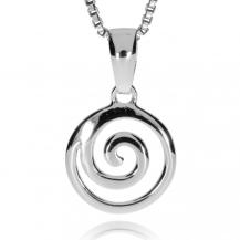 Stříbrný přívěsek - Kulatá spirálka