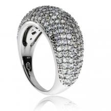 Stříbrný prsten se zirkony (kubická zirkonie) Třpytivá linie