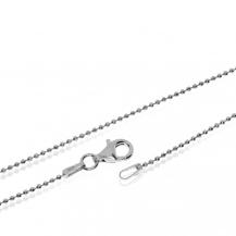 Stříbrný řetízek, broušené kuličky - 45cm
